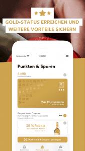 Kundenkarte Goldstatus