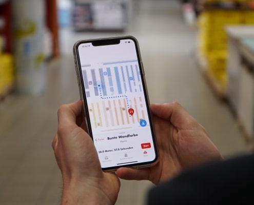 Instore Navigation für Einzelhändler