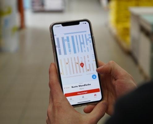 Produktsuche und Indoor Navigation
